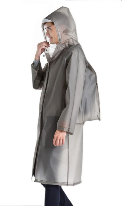 Imperméable Long Transparent Homme