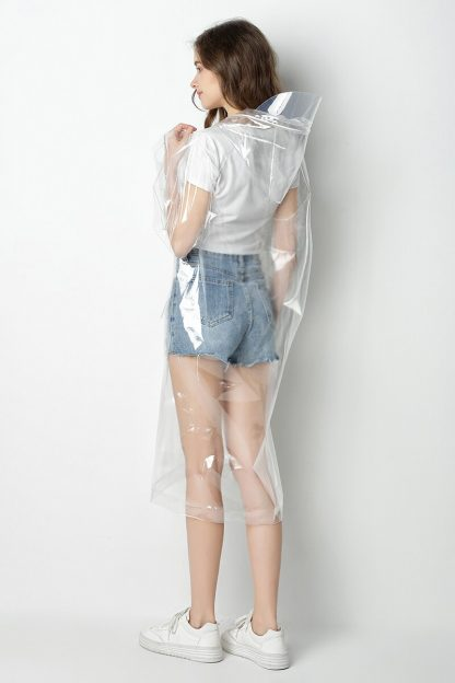 Impermeable transparent long pour femme